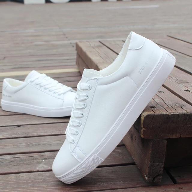 Giày Sneaker Unisex Cặp Đôi Nam Nữ Đế Bằng Gót Chữ Số Hapu