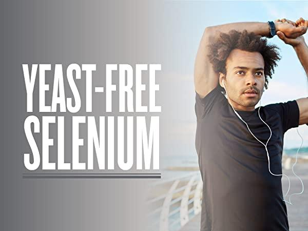 man stretching while exercising outdoors - zhou nutrition offers yeast-free selenium