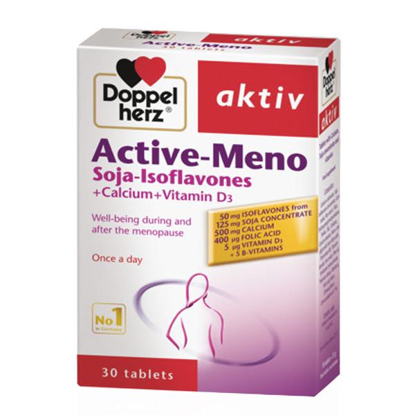 Thực Phẩm Chức Năng Cân Bằng Nội Tiết Tố Nữ, Đẹp Da DoppelHerz Active Meno (30 viên)