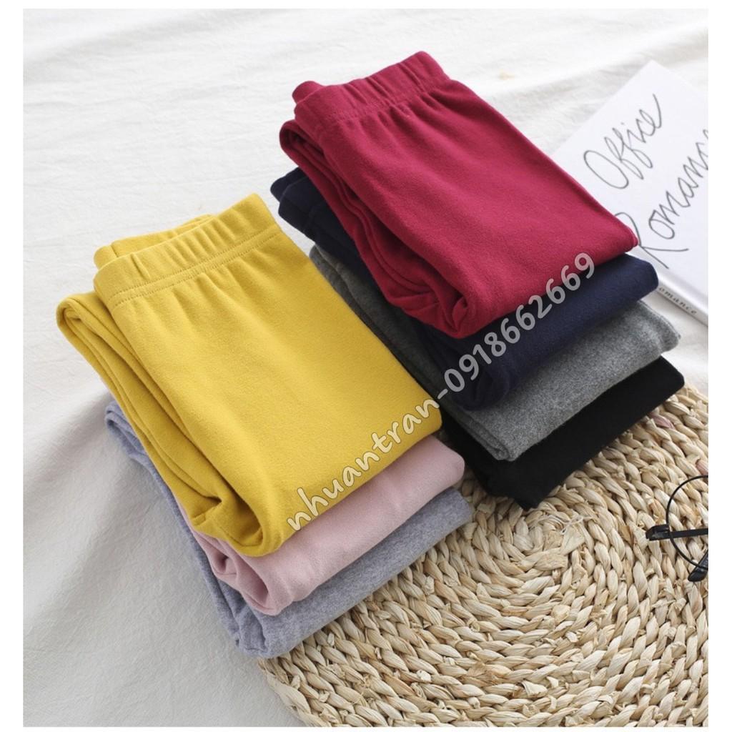 Quần dài bé gái( quần leging) vải cotton len loại 1 size 8-23kg