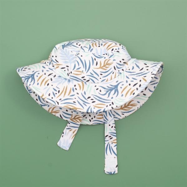 Mũ rộng vành họa tiết lá dương xỉ cho bé