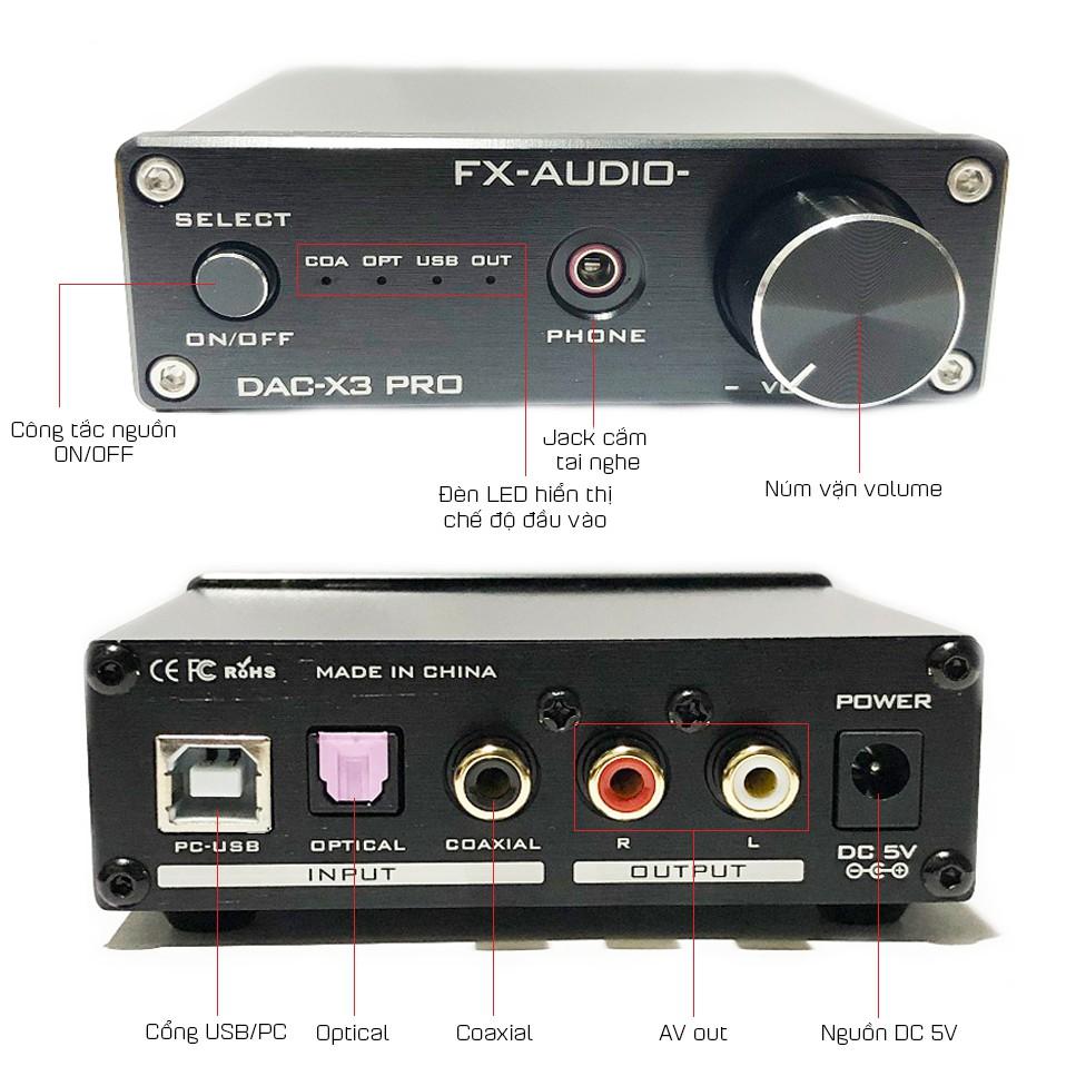 Bộ Giải Mã Âm Thanh DAC FX-Audio X3 Pro - Hàng Chính Hãng