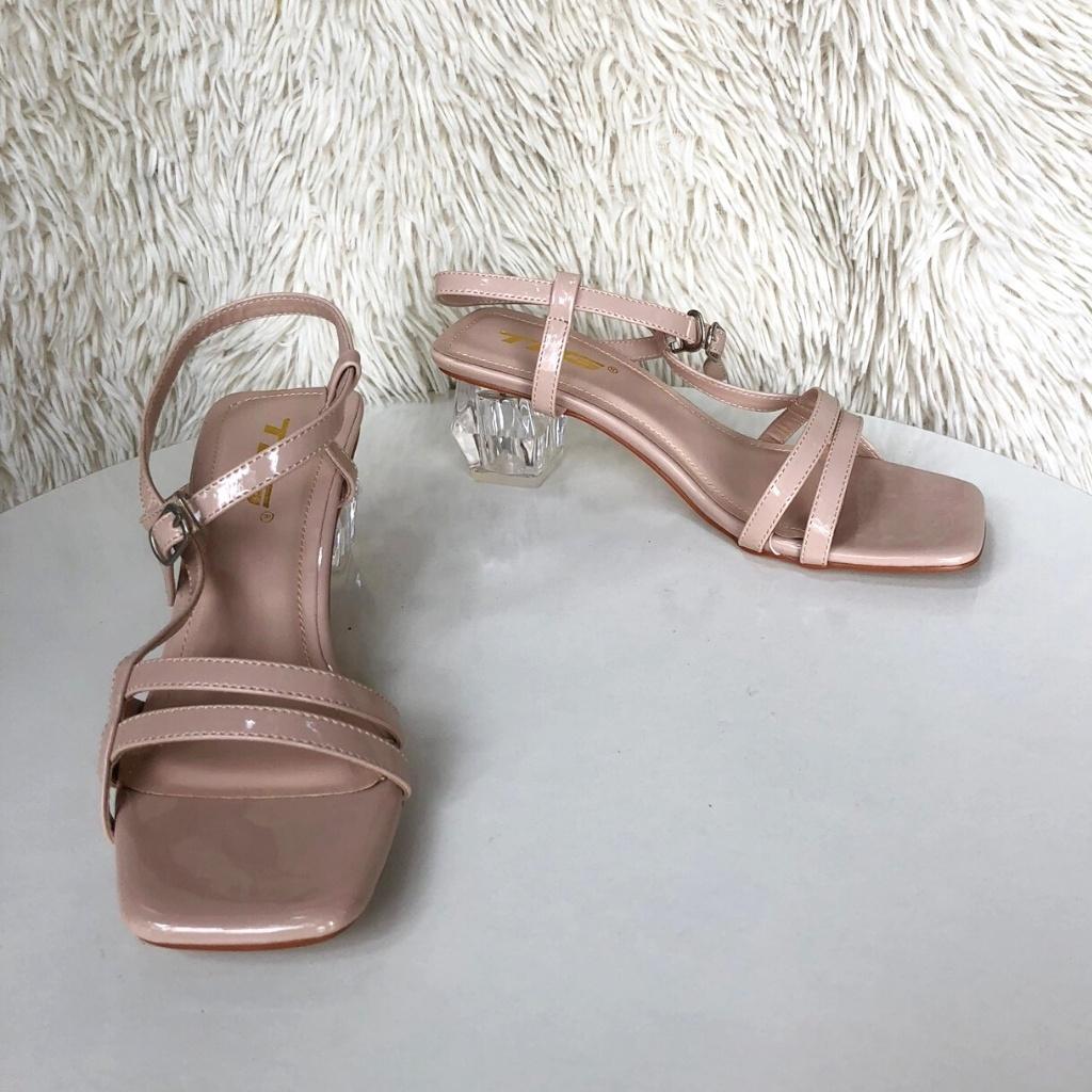 Sandal nữ quai da đế mica siêu dễ thương 21804