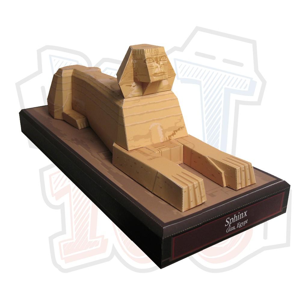 Mô hình giấy kiến trúc tượng nhân sư Ai Cập Sphinx – Egypt