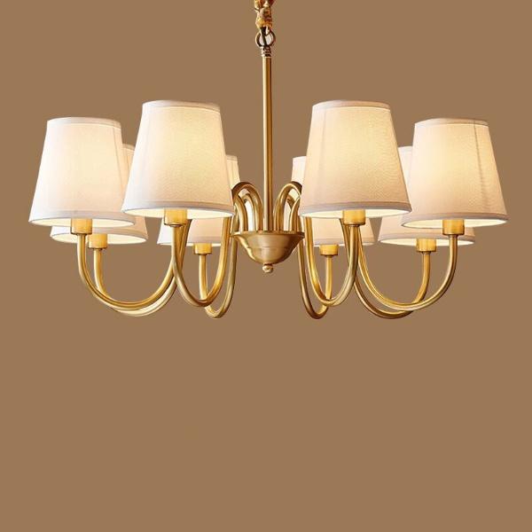 GOLD Đèn chùm đồng vàng 8 bóng 6254C
