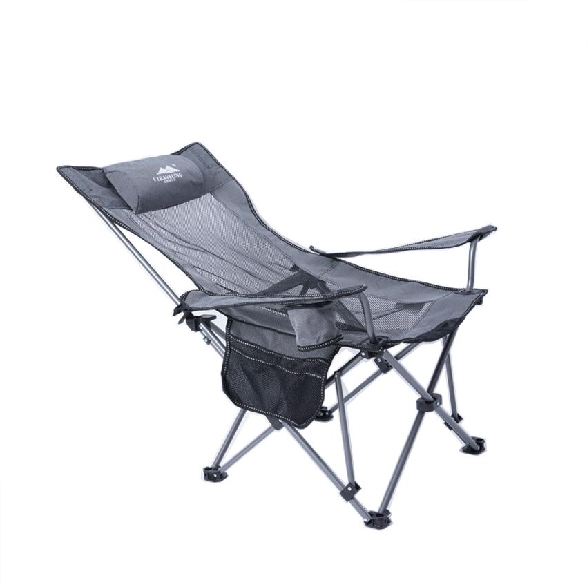 Ghế câu cá, ghế dã ngoại xếp gọn M5035 khung thép không gỉ chắc chắn, chất vải Oxford và lưới chịu lực cường độ cao, ghế xếp du lịch, ghế ngủ thư giãn ngoài trời (Giao Màu Ngẫu Nhiên )