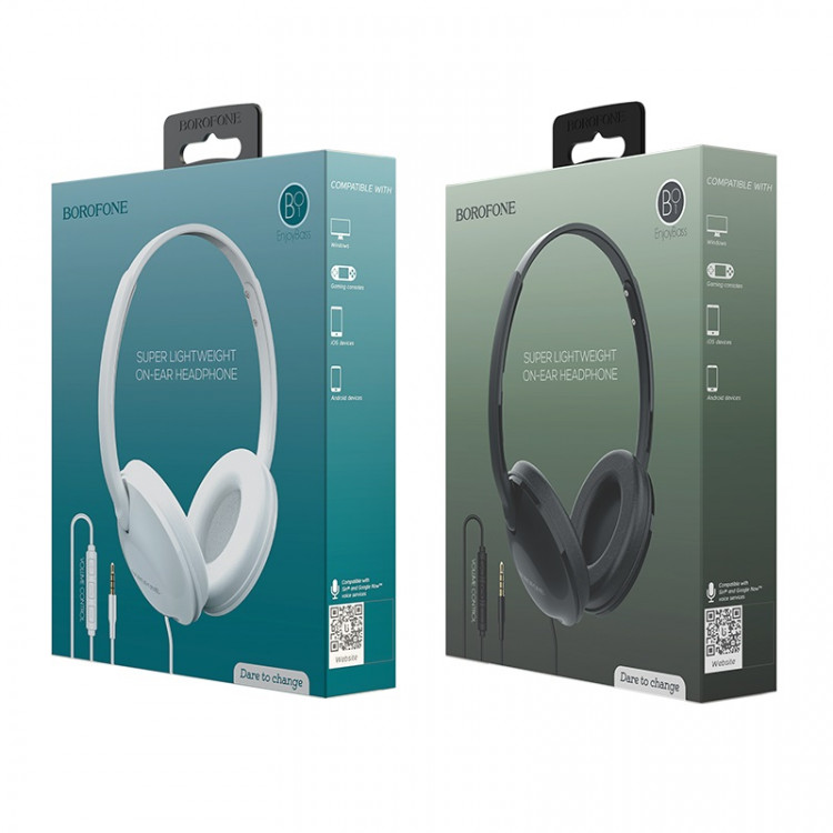 borofone bo1 enjoybass in line control wired headphones packages