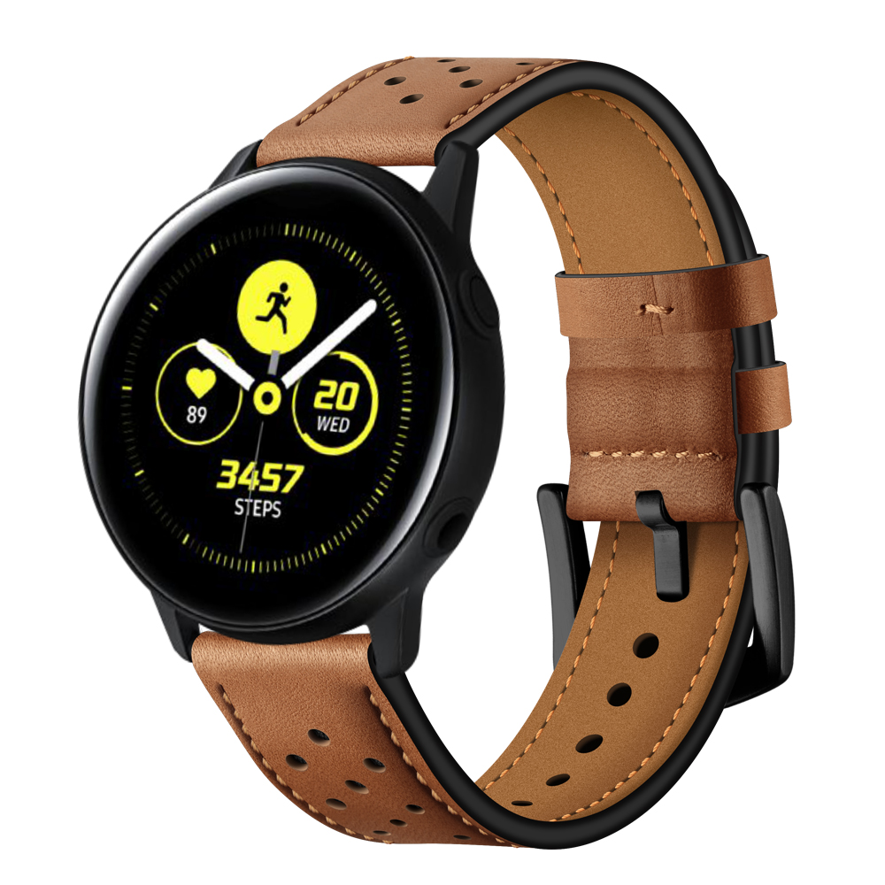 Dây da Italia Size 20mm cho Galaxy Watch Active 1, Galaxy Watch Active 2, Galaxy Watch 42, Huawei Watch 2, Ticwatch, Amazfit