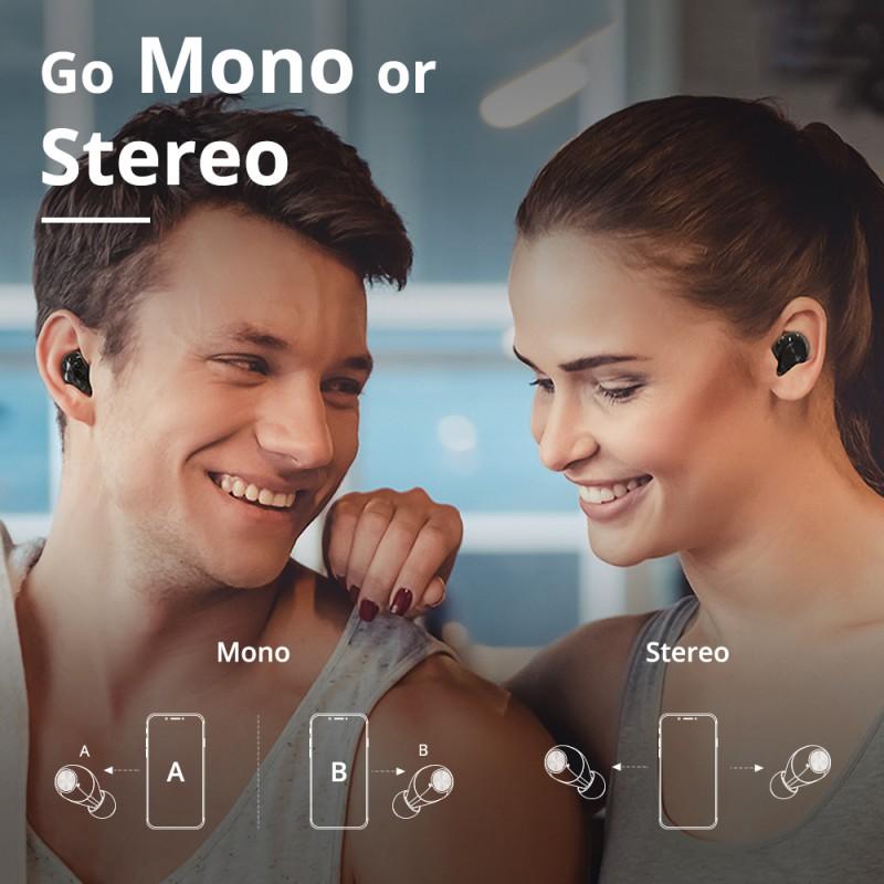 Tai Nghe Bluetooth Không Dây 5.0 TWS Tronsmart Spunky Beat (phiên bản ứng dụng) Chíp Qualcomm Aptx Khử Tiếng Ồn Cao Cấp Khả Năng Chống Nước Ipx5 - Hàng chính hãng