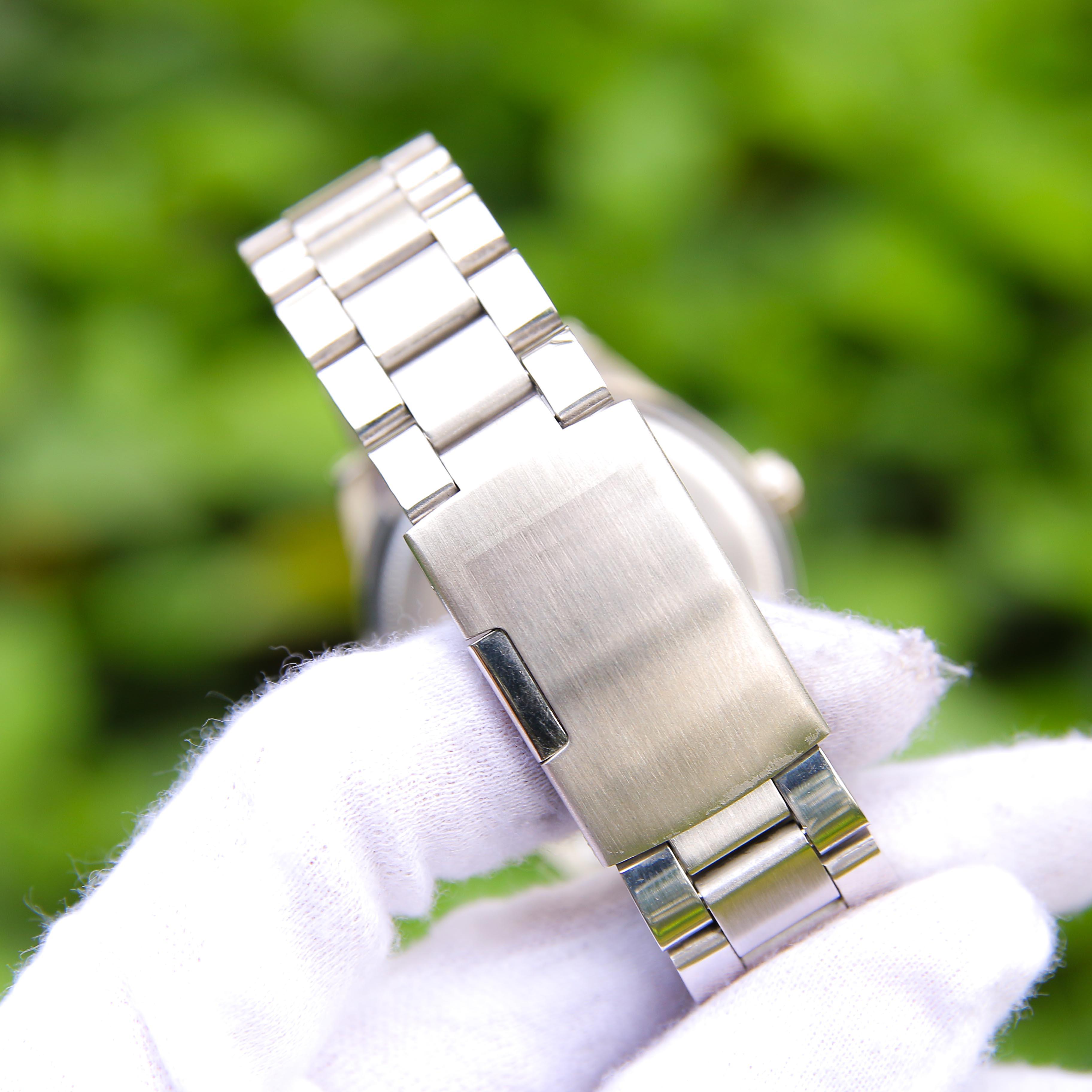 Đồng hồ nam công sở dây thép CT003050 phong cách Ý hiển thị 2 lịch ngày tháng – Thiết kế sang trọng – Lịch lãm