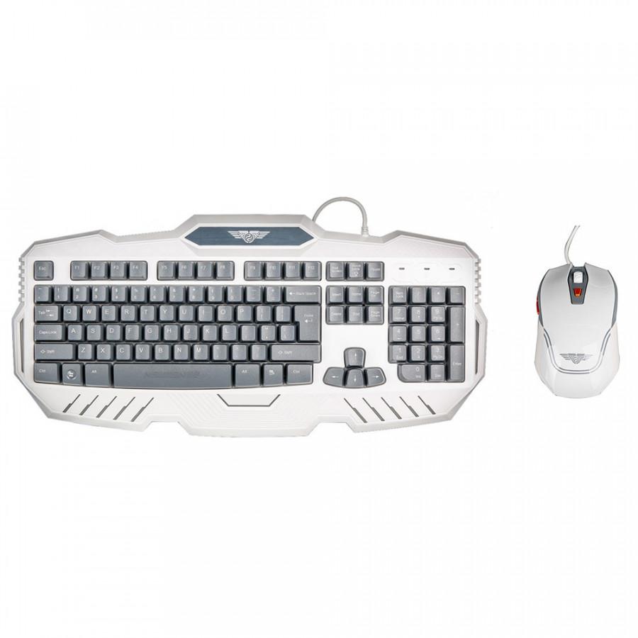 Bộ bàn phím, chuột máy tính có dây Gaming Newmen KM810, màu trắng) - Hàng chính hãng