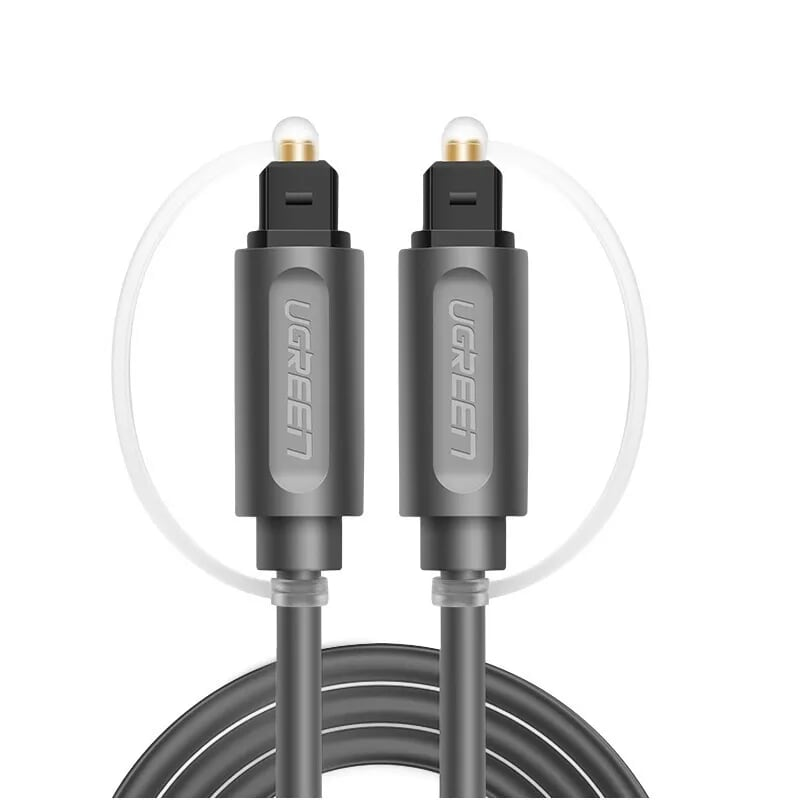 Cáp âm thanh 2 đầu quang Toslink Optical Audio ver 10771 3M màu Xám UGREEN Av122- Hàng chính hãng