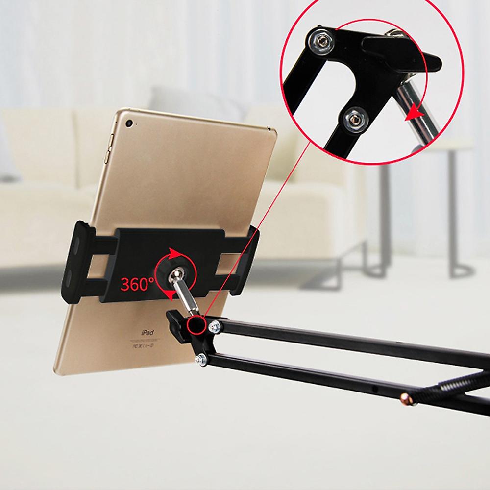 Giá đỡ kẹp máy tính bảng, điện thoại hỗ trợ livestream, quay video, giải trí, dễ dàng điều chỉnh vị trí - Hàng chính hãng