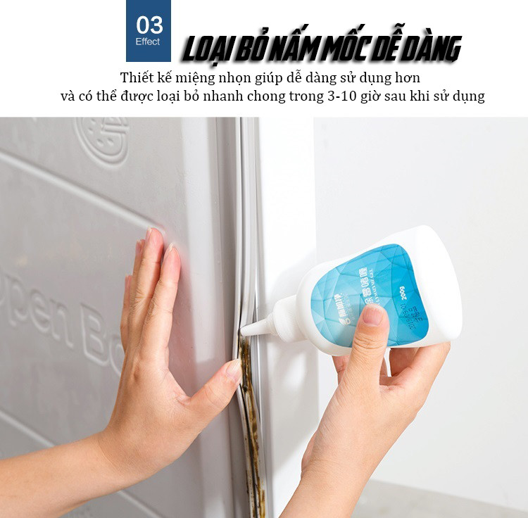 Chai Dung Dịch GEL Tẩy Mốc Đa Năng Dành Cho Nhà Bếp, Nhà Tắm 200ml Cao Cấp