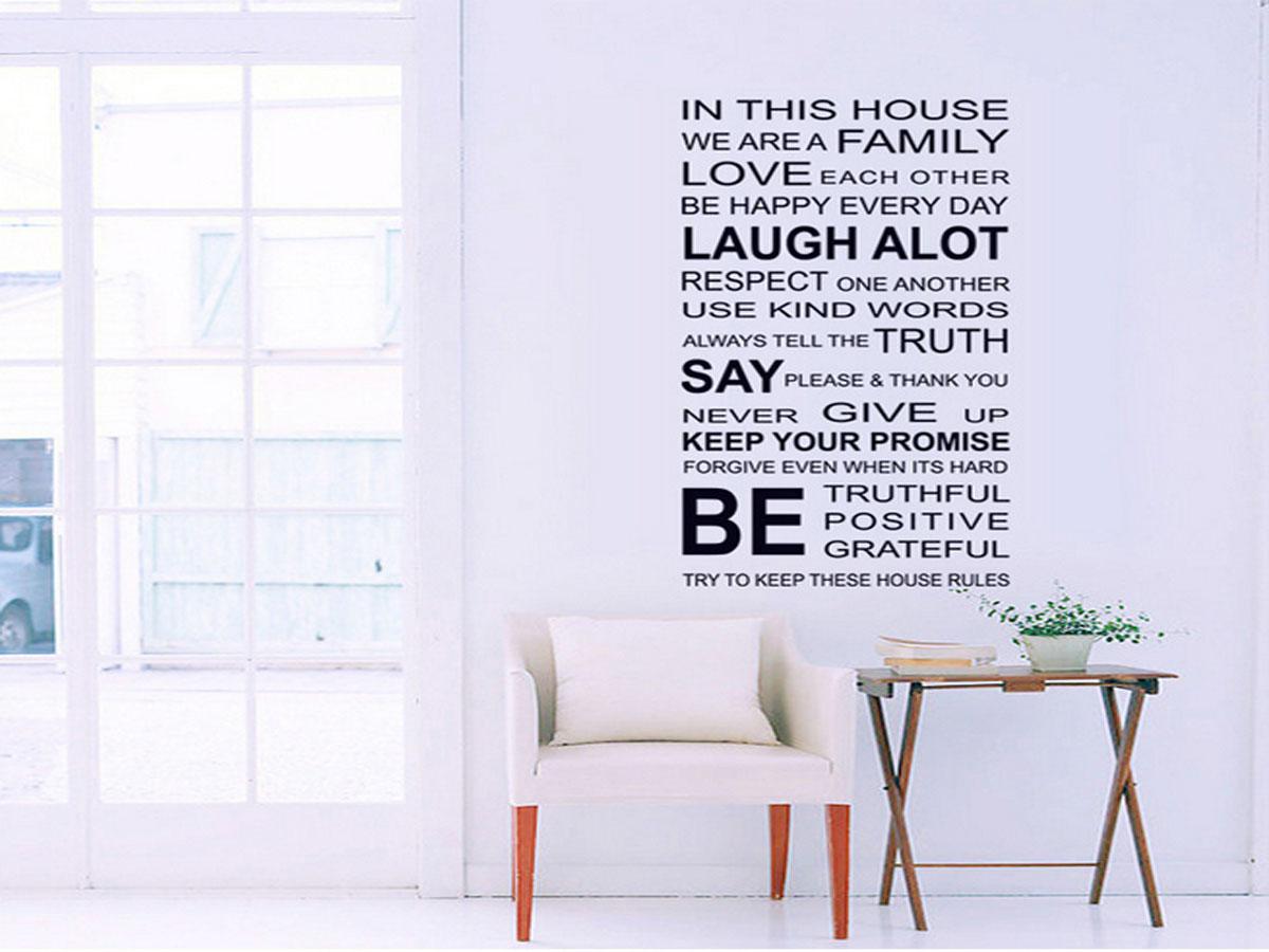 Decal dán tường chữ laugh alot df5206