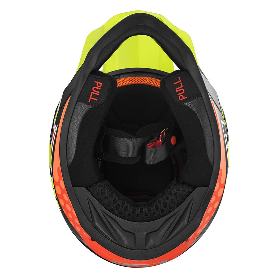 Mũ Bảo Hiểm Fullface Off Road LS2 MX437 Fast Volt Black Yellow Orange