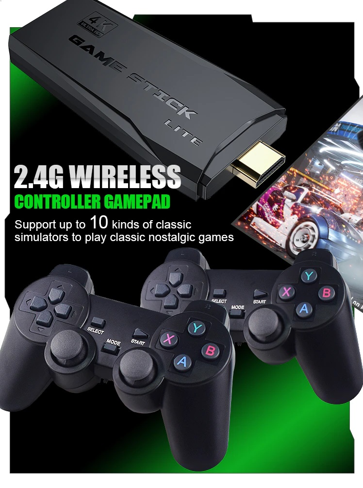 Máy chơi game điện tử 4 nút Tay cầm không dây 32G/64G.