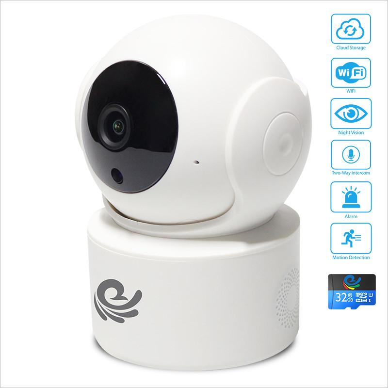 Camera IP Quan Sát An Ninh Trong Nhà Chống Trộm 2.0Mpx 1920*1080P FULL HD, Kết Nối Với Điện Thoại, Máy Tính, Smart TV Kèm Thẻ 32Gb - Chính Hãng