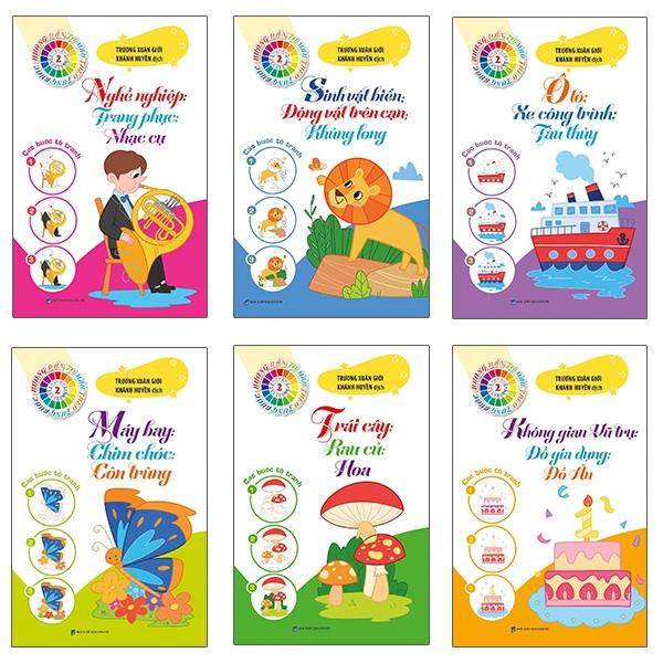 Bộ Sách Tô Màu Theo Từng Bước 2 (Bộ 6 Cuốn)