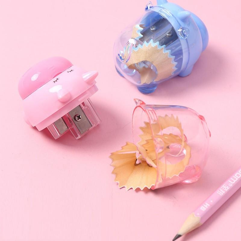 Gọt bút chì Cá heo, Cà rốt, Chuột, Nhiều hình động vật dễ thương. xoáy bút chì cho bé học tập
