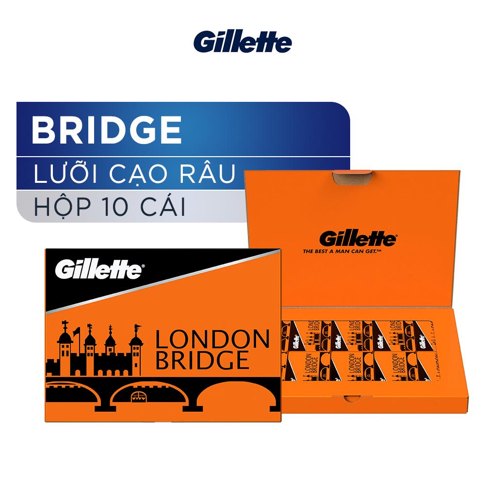 Lưỡi Lam Cạo Râu Gillette London Bridge Hộp 10 Cái