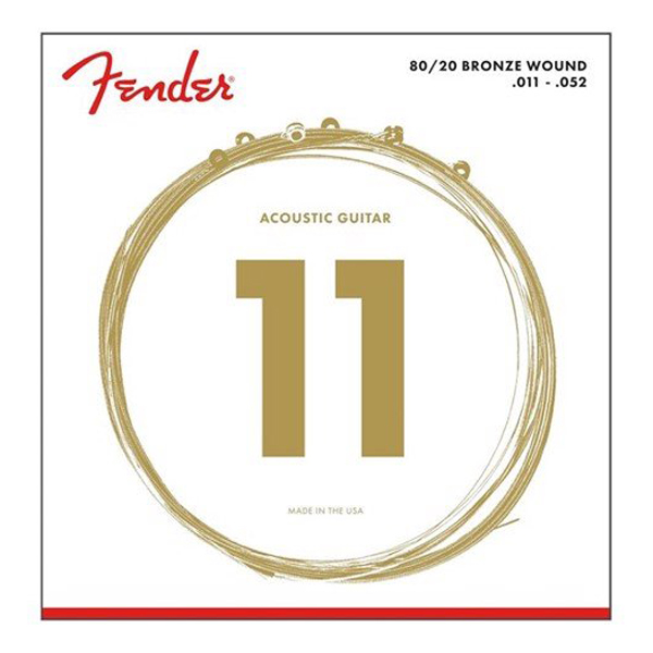 (Chính hãng USA) Dây đàn Fender Acoustic Guitar 80/20 Ball End Strings 11-50