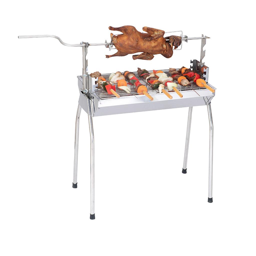 Bếp nướng than hoa đa năng: Nướng 2 trong 1, lò nướng than Inox bền sạch, lò quay vịt gia đình, bếp nướng than DNM