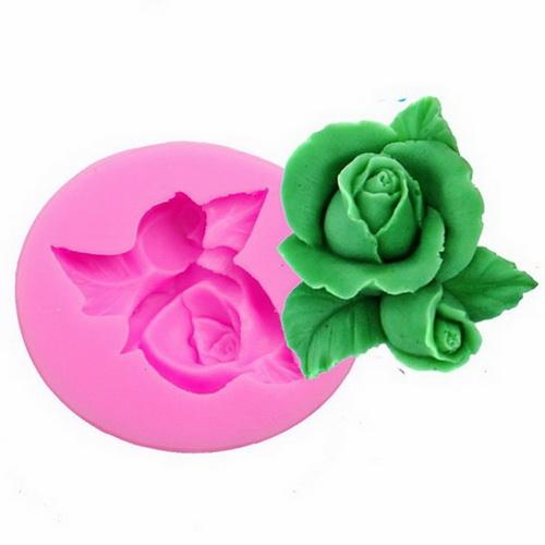 Khuôn rau câu silicon hoa hồng búp