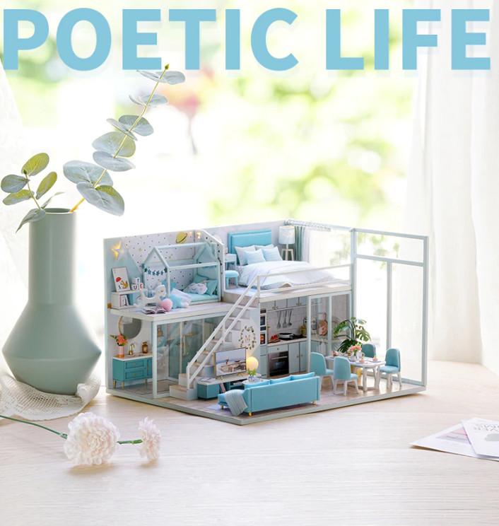 Mô Hình Lắp Ráp Nhà Búp Bê DIY - Poetic Life L028 ( Tặng Keo + mica )