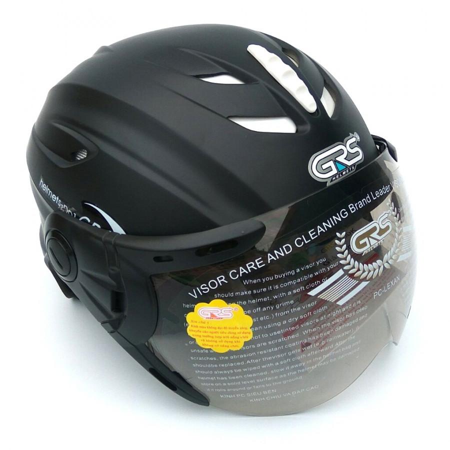 Mũ Bảo Hiểm Nửa Đầu Có Kính GRS A760K