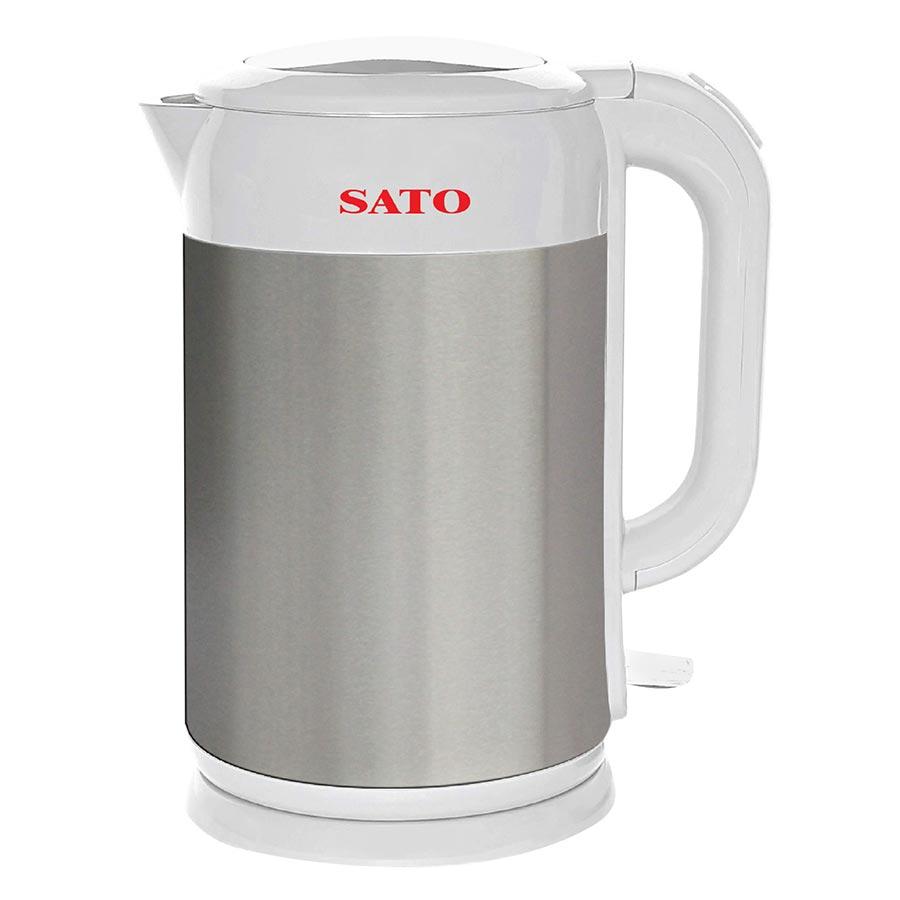 Bình Đun Siêu Tốc SATO ST-1803(T) 1.8L - Trắng Ghi - Hàng chính hãng