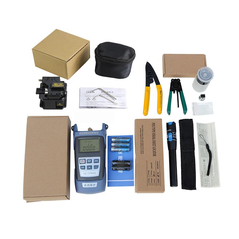 Bộ dụng cụ thi công quang cao cấp AZONE gồm: Máy đo công suất quang đa năng HX + Dụng cụ cắt sợi quang SKL 8A + Bút soi quang 1km + 2 kìm tuốt quang cao cấp + 1 lọ đựng cồn rửa dụng cụ + Tặng 1 túi đựng bộ dụng cụ siêu gọn
