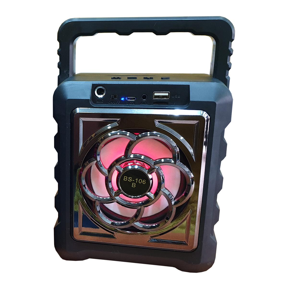 Loa nghe nhạc Mini Bluetooth có tích hợp chức năng Karaoke BS-106 JL (Tặng kèm Micro có dây)