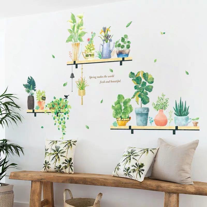 Decal dán tường Cây xanh trang trí 4 trang trí phòng khách, phòng ngủ đẹp