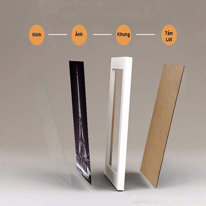 Bộ Khung Ảnh Treo Tường Phong Cảnh Đà Nẵng Đẹp Tặng Kèm bộ ảnh như hình mẫu, đinh treo tranh và sơ đồ treo - PGC282