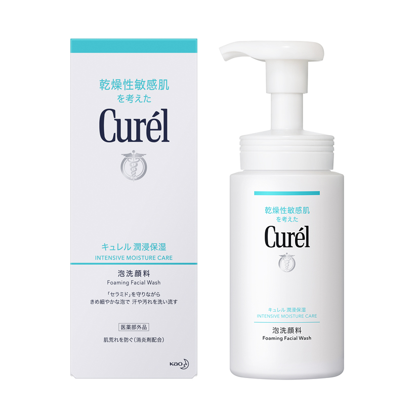 Sữa Rửa Mặt Dạng Bọt Cấp Ẩm Chuyên Sâu Curel Intensive Moisture Care Foaming Wash (150ml)