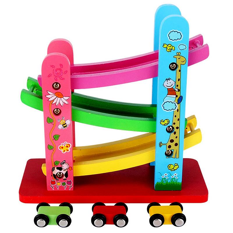 Đồ chơi gỗ cao cấp- Xe cầu trượt mini 3 tầng Nemotoys