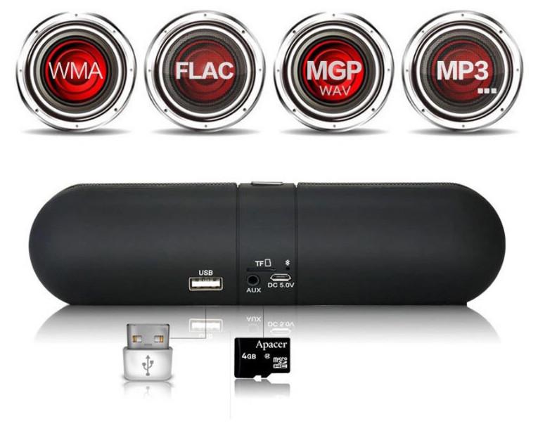 Loa Bluetooth Loa nghe nhạc Mini PKCB F1 Nhỏ gọn tiện lợi dễ dàng mang theo khi đi du lịch, tập thể thao PF121