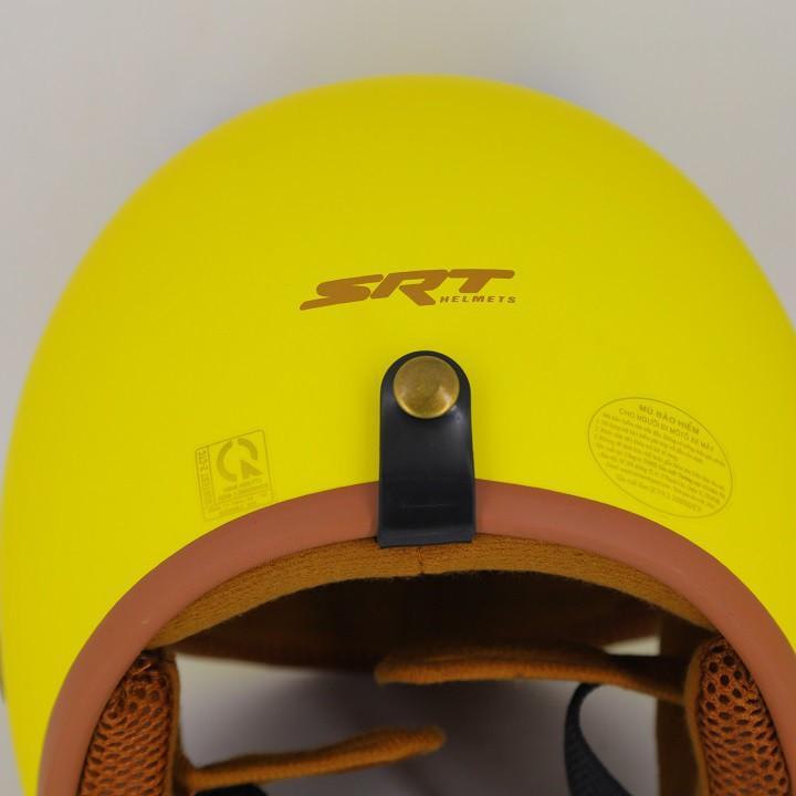 Mũ Bảo Hiểm 3/4 Đầu SRT PIKACHU Nền Vàng Có Tai