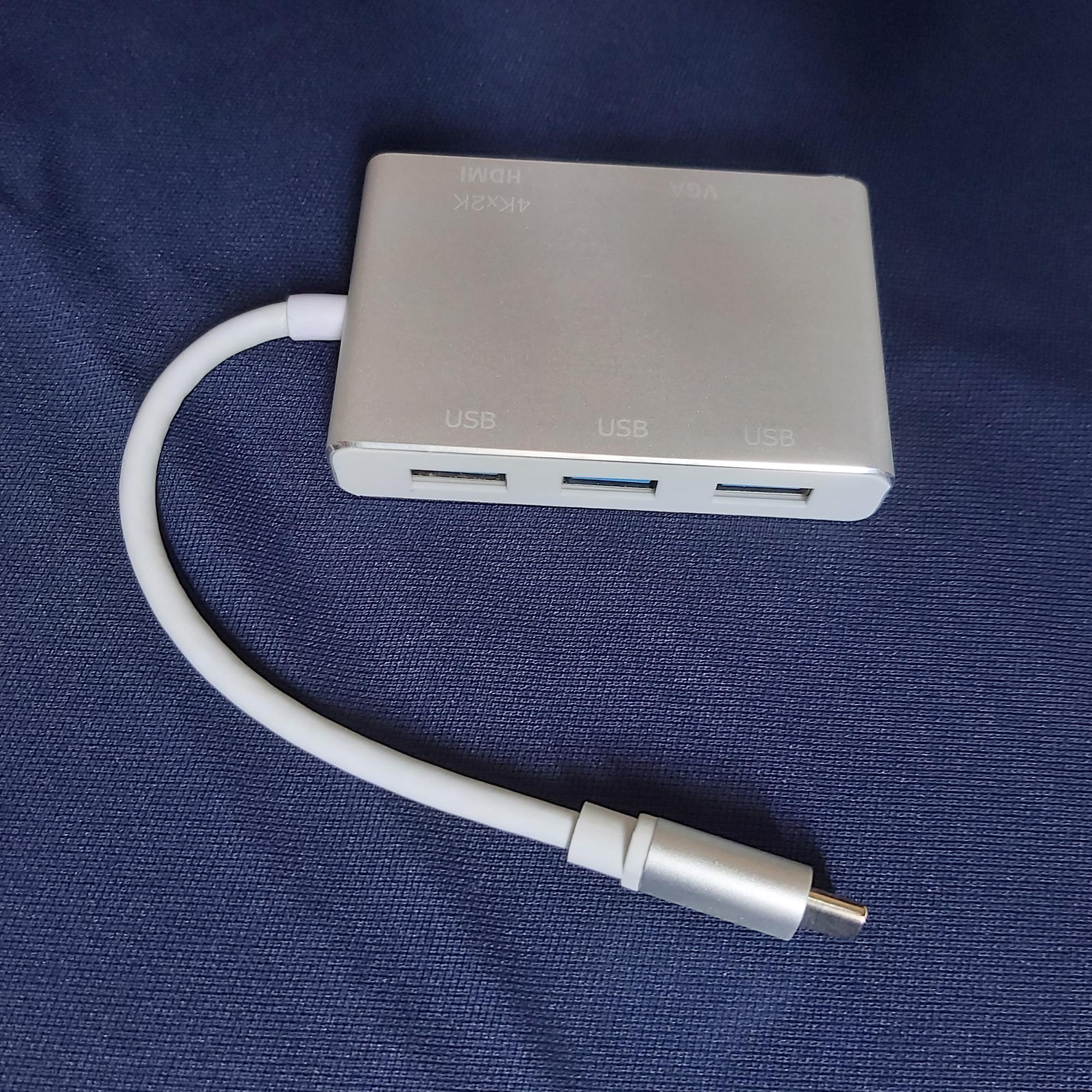 Bộ Chuyển đổi USB Type C sang HDMI và VGA kèm 3 cổng USB 3.0