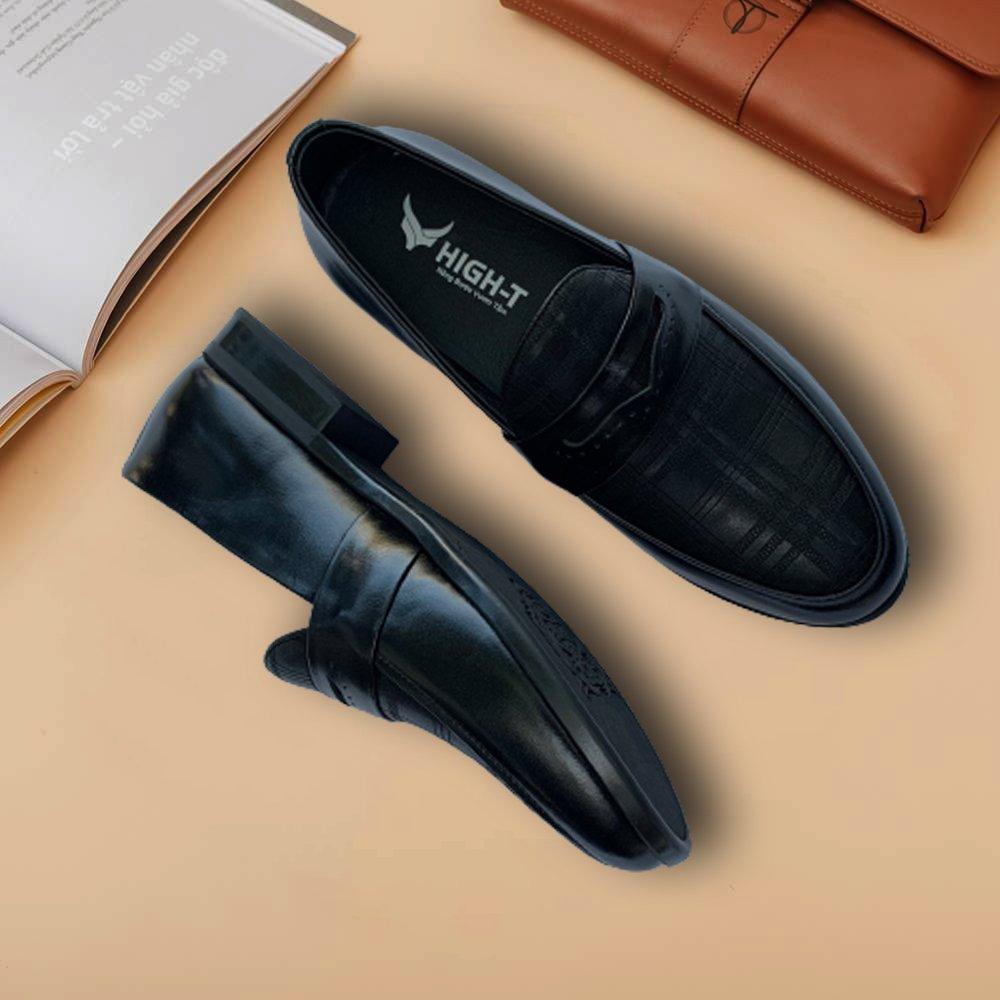 Giày Lười Nam Cao Cấp  - Màu Đen - D09