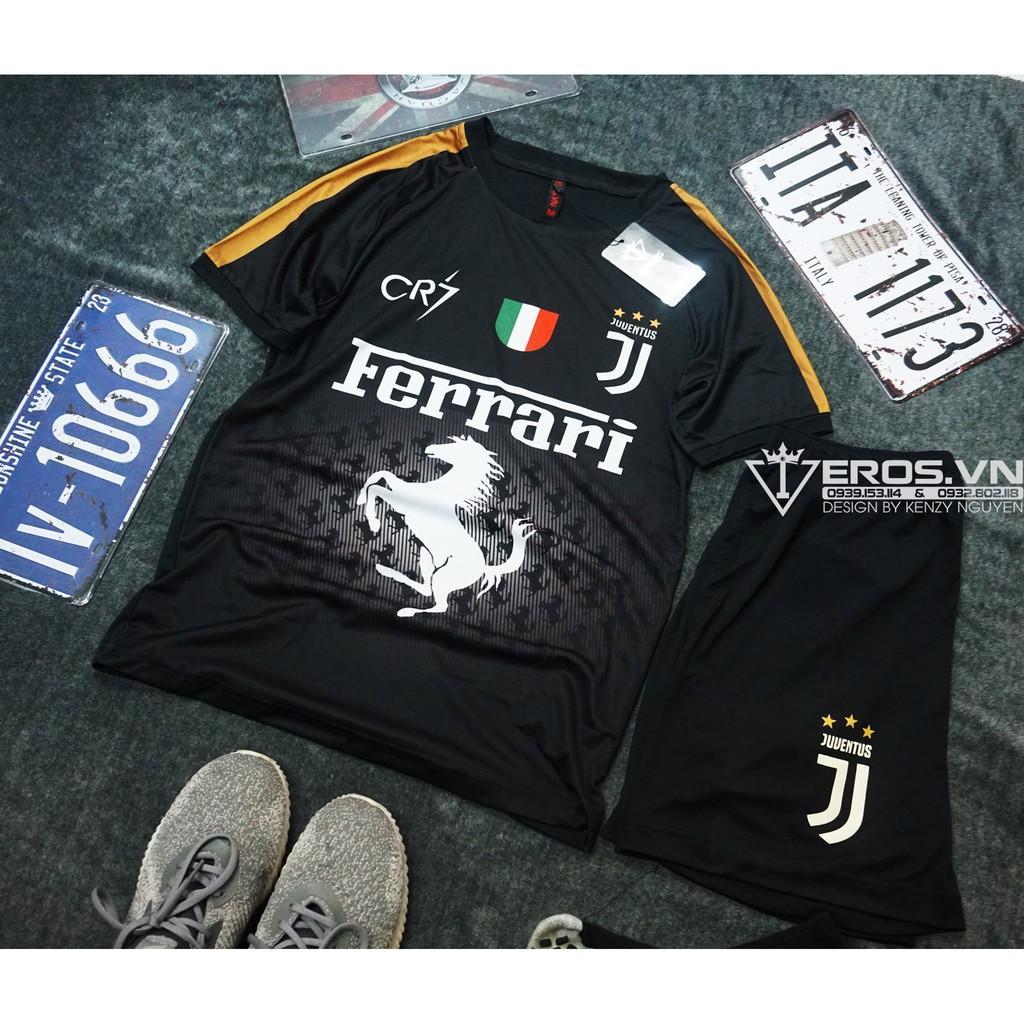Áo thể thao bóng đá CLB Juventus Ferrari - Đồ đá banh Độc Nhất 2020
