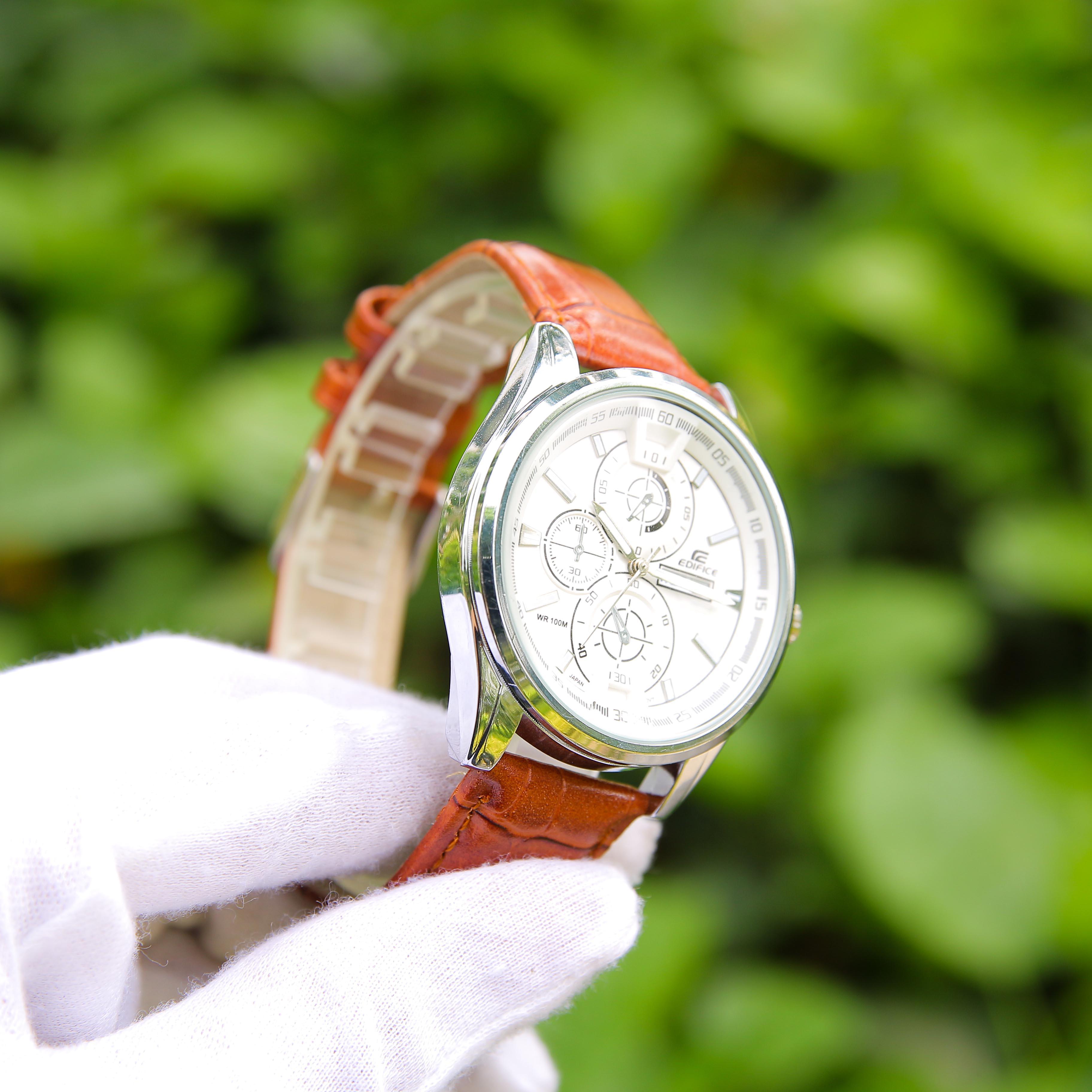 Đồng hồ nam cao cấp CADN3051 – Thiết kế dây da sang trọng, lịch lãm – Phù hợp đi chơi, đi làm – Hiển thị lịch ngày tháng tiện lợi