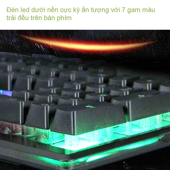 [TẶNG LÓT CHUỘT] Bộ bàn phím giả cơ và chuột chuyên game R8 1910 Led 7 màu + LÓT CHUỘT