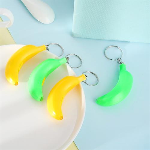 Móc khóa đèn pin led hình quả chuối sung sướng – Đèn pin móc khóa led siêu sáng