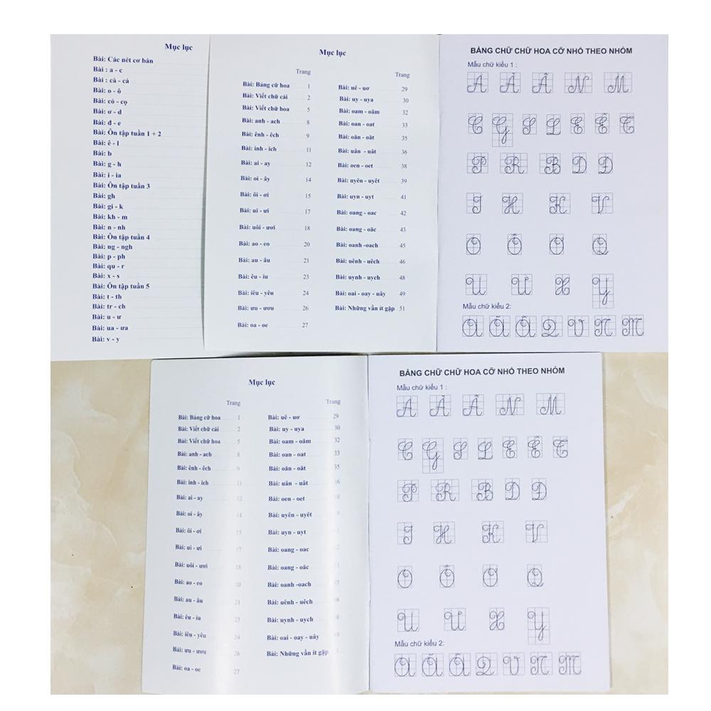 COMBO: Thực Hành Luyện Viết Lớp 1 - Quyển 1 + Quyển 2 + Quyển 3