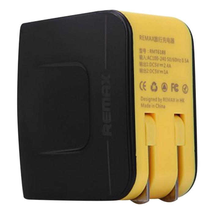 Adapter Sạc 2 Cổng USB Remax RMT6188 3.4A - Hàng Chính Hãng