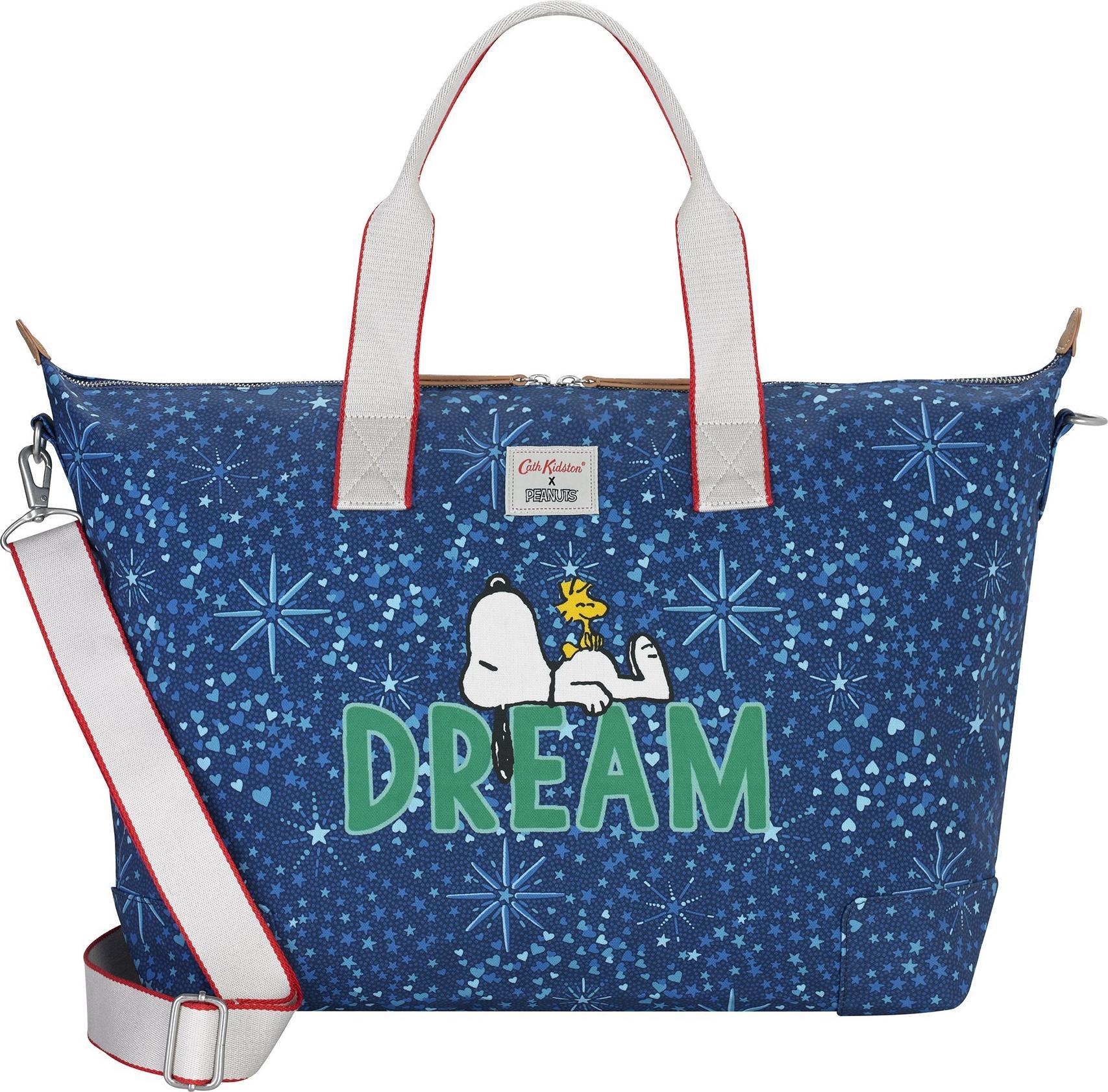 Túi du lịch Cath Kidston họa tiết Dream Midnight Stars PL02 (Snoopy Dream Midnight Stars PL02 Overnight Bag)