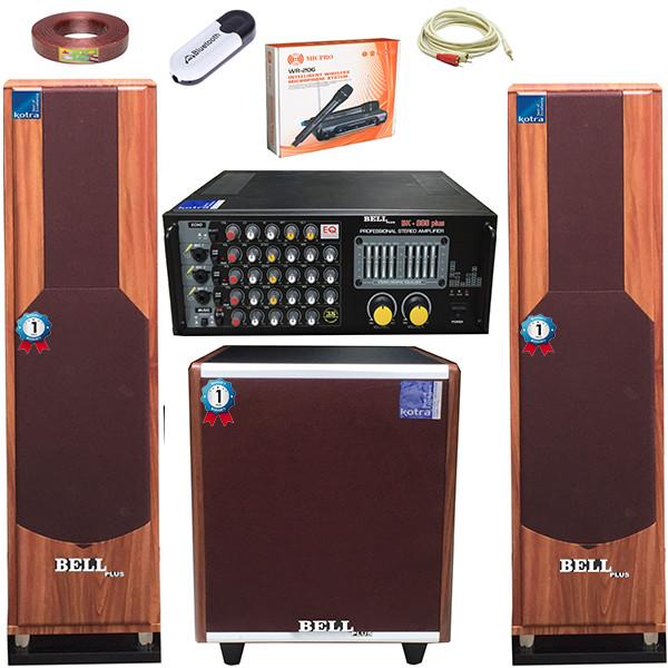 Bộ dàn karaoke gia đình và nghe nhạc SA - 337M BellPlus (hàng chính hãng)