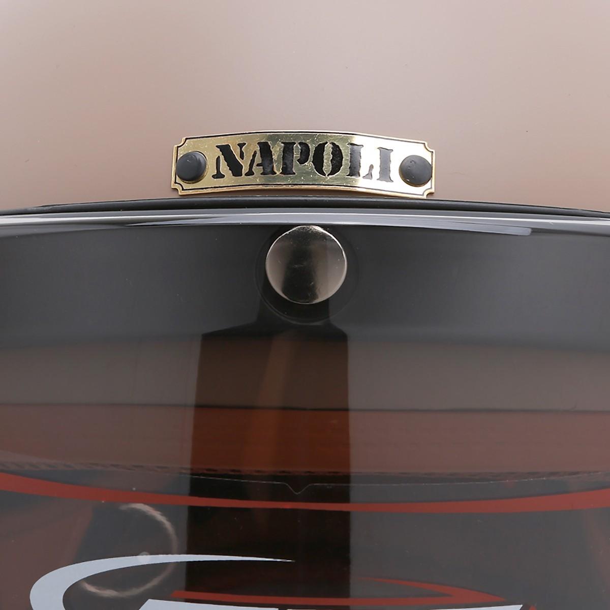 Mũ Bảo Hiểm 3/4 Napoli SH Free Size - Nâu Lót Nâu